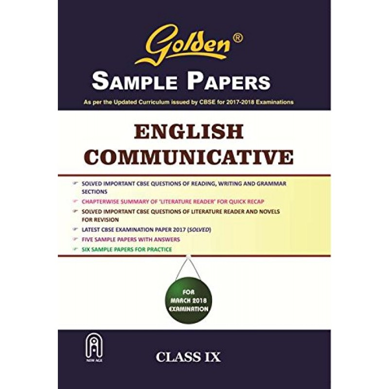 golden new age sample papers english communicative of class 9 rh raajkart com