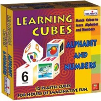 Creative Educational Aids Pre-School - Learning Cubes Alphabet & Numbers (0637)