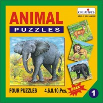 Creative Educational Aids Jigsaw Puzzles - Animal Puzzle No. 1 (0701)