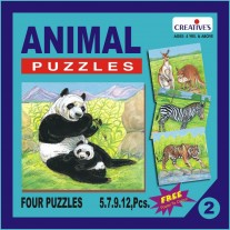 Creative Educational Aids Jigsaw Puzzles - Animal Puzzle No. 2 (0702)