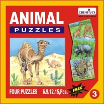 Creative Educational Aids Jigsaw Puzzles - Animal Puzzle No. 3 (0703)