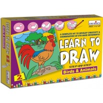 Creative Educational Aids Learn to Draw - Birds and Animals (1039)