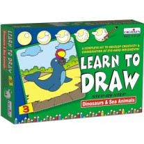 Creative Educational Aids Learn to Draw - Dinosaurs and Sea Animals (1040)