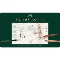 Faber Castell Pitt Manochrome Large Sets (Tin Box of 33)-112976