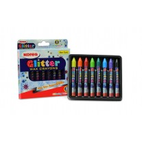 Kores Glitter wax Crayons ( Pack of 8)