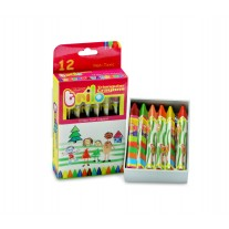 Kores Trilo Triangular Wax Crayons ( Pack of 12)