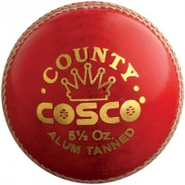 Cosco Cricket Ball County (Pack of 6, Red)