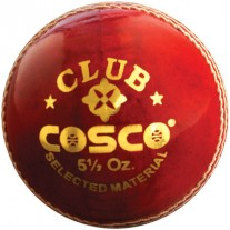 Cosco Cricket Ball Club (Pack of 6, Red)
