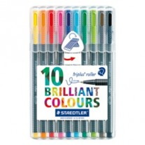 Staedtler Triplus Roller Pens Pack of 10 Colours (403 SB10)