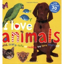 I Love Animals Sticker Book With More Than 30 Stickers! by Priddy Books