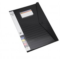 Trio Display Resume File with Punchless Clip (520DBF) 20 Pockets FC