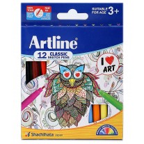 Artline Clacssic Sketch Pens (Shades of 12)