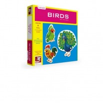 Toy Kraft Birds (2Pieces - Head & Tail Puzzle)