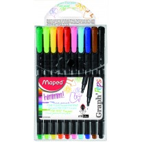 Maped Graph Peps Fineliner X10 Pouch (749150)