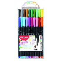 Maped Graph Peps Fineliner X20 Pouch (749151)