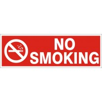 No Smoking Safety Sign (12X4 inches)-Self Adhesive Sticker