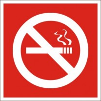 No Smoking Safety Sign (6X6 inches)-Self Adhesive Sticker