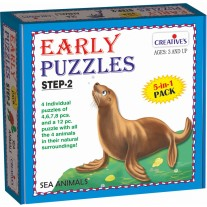 Creative Educational Aids Early Puzzles Step 2 - Sea Animals (0785)