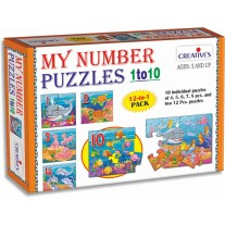 Creative Educational Aids Early Puzzles Step 2 - My Number Puzzles 1 to 10 (0792)