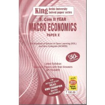 King Champion Previous Years Solved Papers Macro Economics for B.Com. 2nd  Year