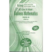 King Champion Guide Business Mathematics Part A for B.Com. 2nd  Year