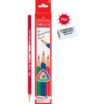 Faber-Castell Ole-Grip Pencils with Free Eraser and Sharpner