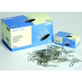 Oddy Paper Clips Nickel Plated (PC-30mm) - Pack of 100 Pcs
