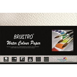 "Brustro Watercolour Papers 200 GSM 9"" X 12"" (Pack of 9 Sheets)"