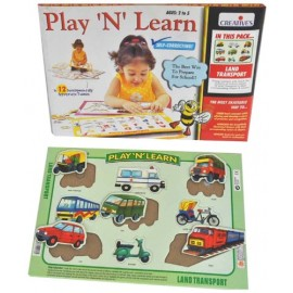 Creative Educational Aids Play and Learn Land Transport (0337)