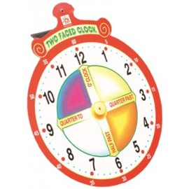 Creative Educational Aids School Years - Two Faced Clock (0655)
