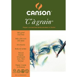 Canson C a' Grain 180 GSM A5 (Pack of 20 Fine Grain Sheets)