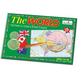 Creative Educational Aids School Years - The World Frame Puzzle 24 Piece (0723)
