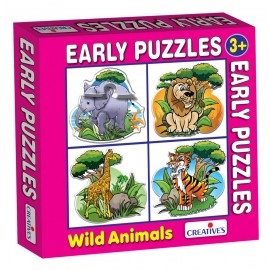 Creative Educational Aids Early Puzzles - Wild Animals (0759)