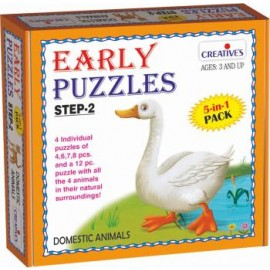 Creative Educational Aids Early Puzzles Step 2 - Domestic Animals (0784)