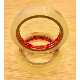 "Sambhav Tape Clear 0.5"" (Length 60 Meters) Single Piece"