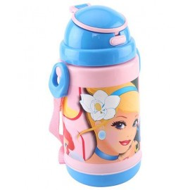 Disney Cinderella Insulated Sipper Bottle Pink And Blue (300 ml)
