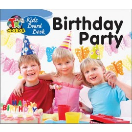 Tricolor Kids Board Book Birthday Party