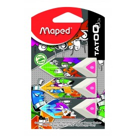 Maped Eraser Triangular Pyramide Blister pack of 3 (119510)