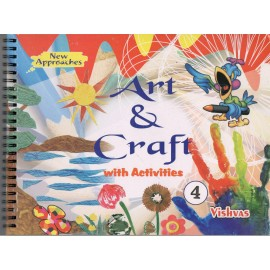 Vishvas Art & Craft with Activities Book with Art Material for Class 4