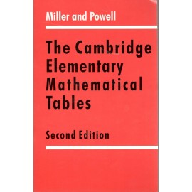 Cambridge Elementary Mathematical Tables by Miller & Powell