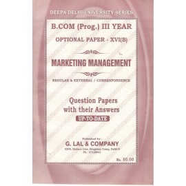 Deepa Delhi University Series Previous Years Solved Papers Marketing Management for B.Com (3rd Year) 2018