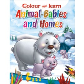 Colour & Learn Animals Babies and Home (Manoj Publications)