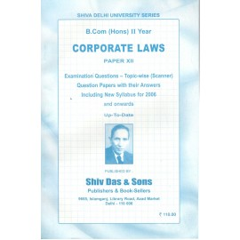 Satish & Brothers Previous Years Solved Papers Corporate Laws B.Com Hons (2nd Year)