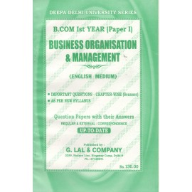 Deepa Delhi University Series Previous Years Solved Papers Business Organisation & Management B.Com (1st Year) 2018
