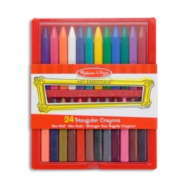 Melissa & Doug Triangular Crayon Set (24 Pcs)