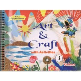 Vishvas Art & Craft with Activities Book with Art Material for Class 1