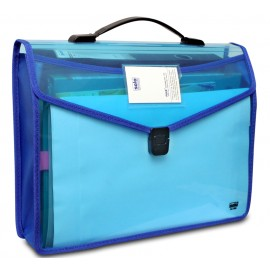 Solo Flexi Document Case with Xtra Pocket+Lock & Handle L/S (DC555)
