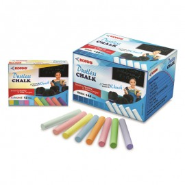 Kores Britemark Dustless Chalk Coloured (144 Pcs.) Pack of 18 Boxes