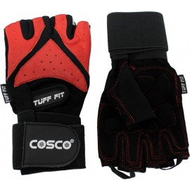 Cosco Tuff Fit Leather Gym Gloves (Pair)