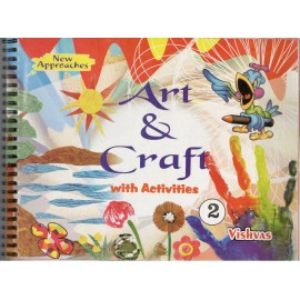 Vishvas Art & Craft with Activities Book with Art Material for Class 2